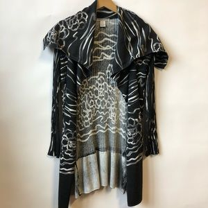 Alberto Makali Floral Open Front Cardigan Small